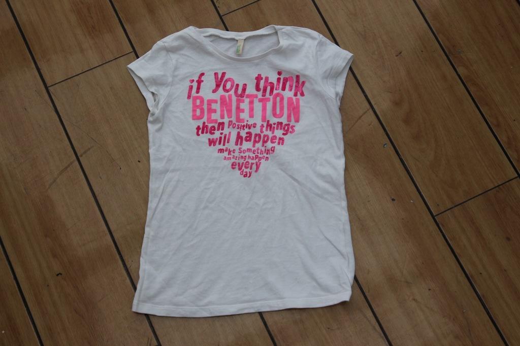 Benetton bluzka koszulka serce 128