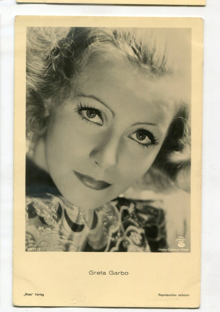Greta Garbo Kino Film Aktorka Foto Pocztówka 15