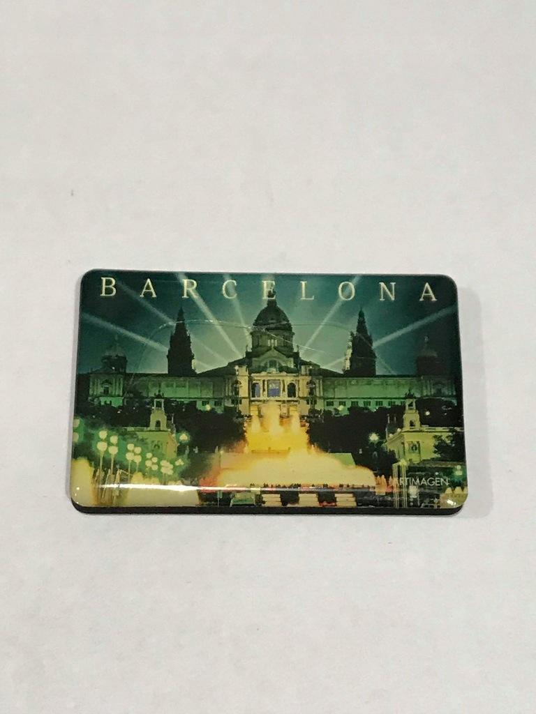 Magnes lodówkę magnez Barcelona Hiszpania płaski
