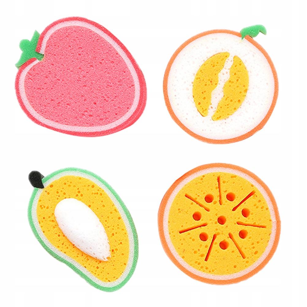 4 sztuk kształt owoców grubsza gąbka gąbka do czys
