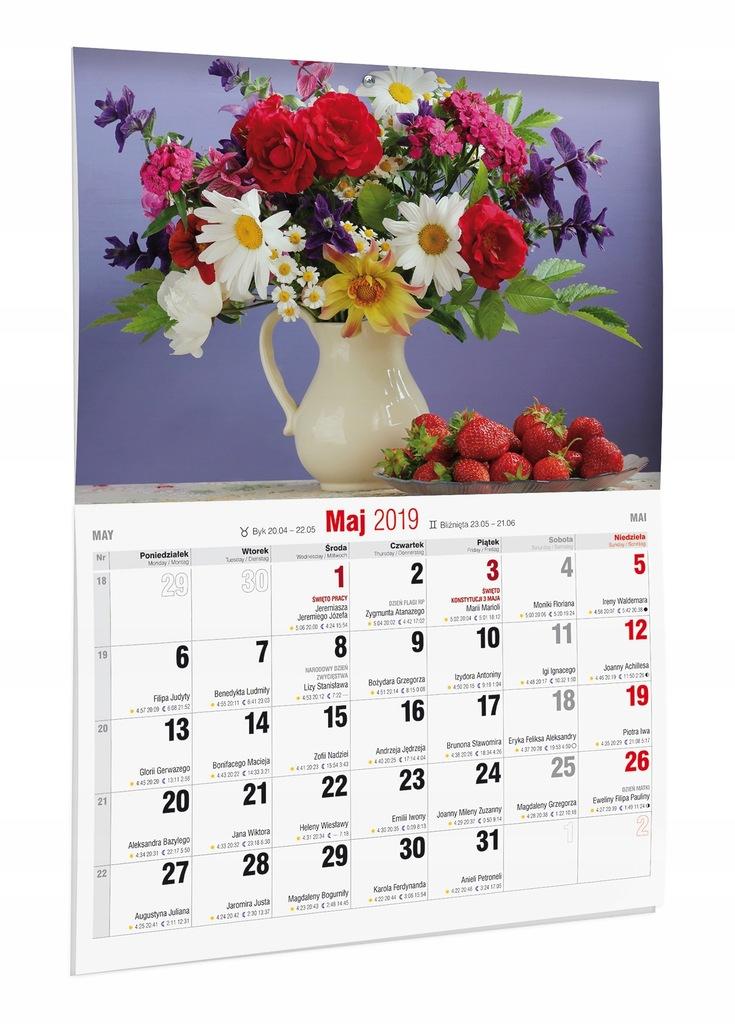 Kalendarz 2019 Kwiaty 28 5x40 Cm 7528917330 Oficjalne Archiwum Allegro