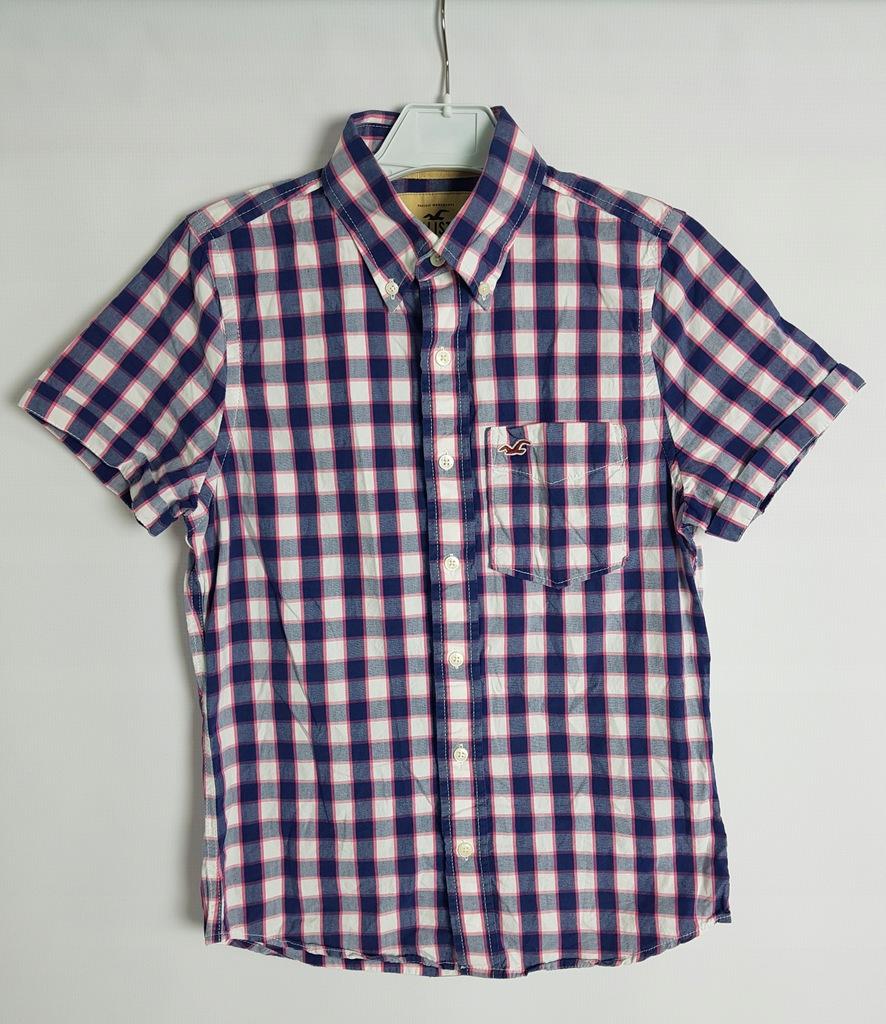 HOLLISTER_męska koszula bawełniana w kratę_S