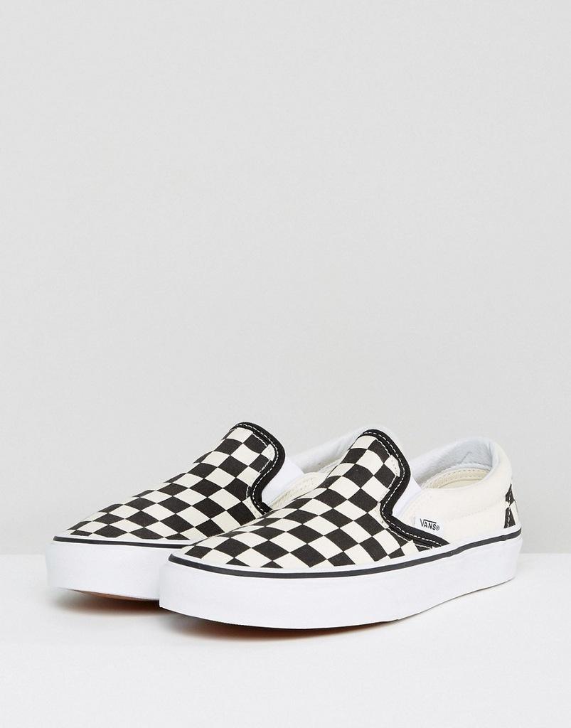 buty vans białe męskie kratki rozmiar 38
