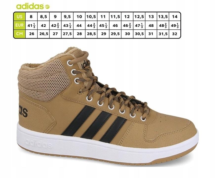 ADIDAS HOOPS 2.0 MID (B44620) Męskie   cena 149,99 PLN, kolor ŻÓŁTY   Buty lifestyle adidas