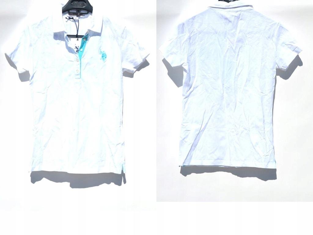 U.S. POLO - Biała Koszulka Polo S/36