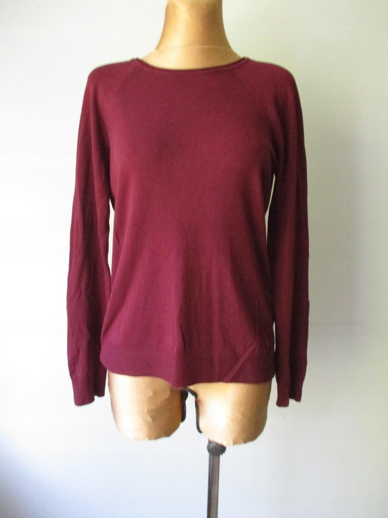 40/42 Gładki sweter z tyłu na guziki Atmosphere-#