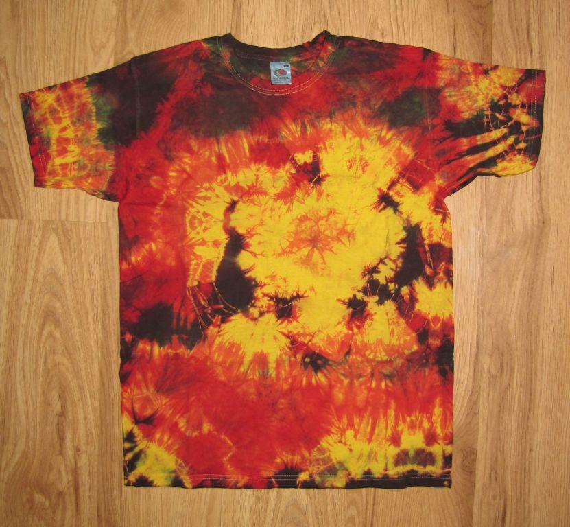 koszulka, t-shirt ręcznie barwiona, rasta L WOŚP