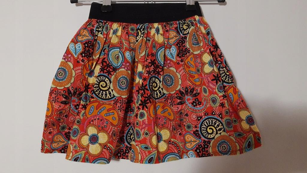 Kolorowa bawełniana spódniczka 104