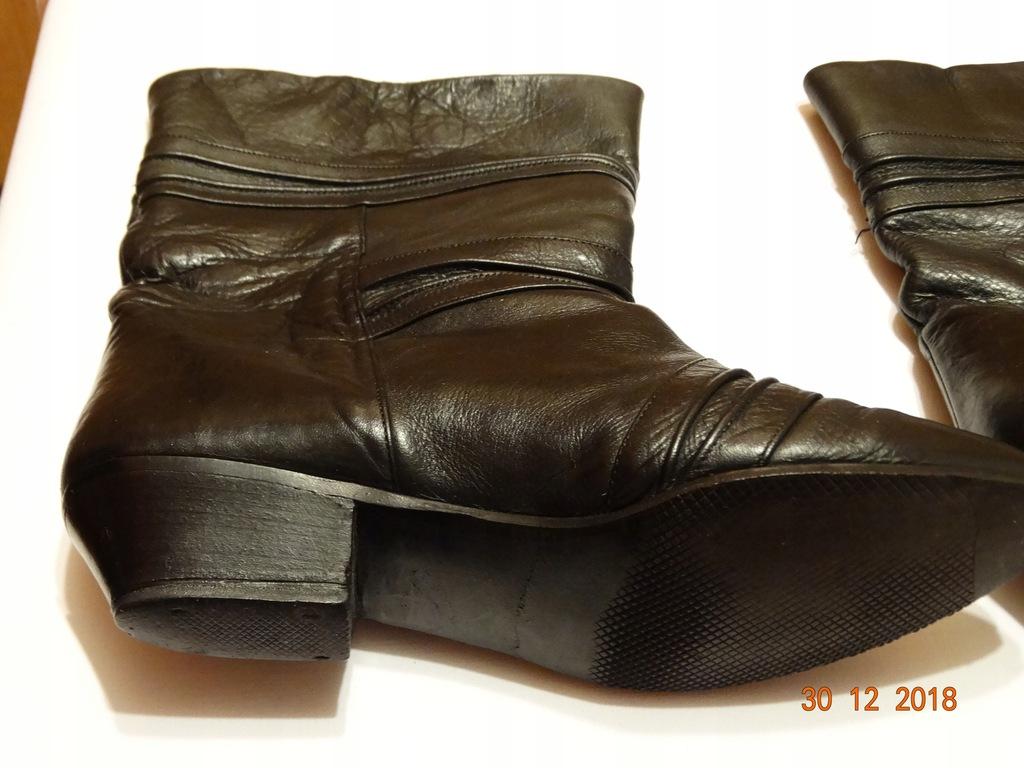 Buty damskie zimowe kozaczki krótkie roz. 38