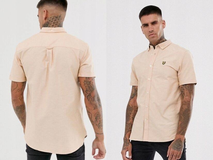 Lyle & Scott Oxfordowa koszula krótki krękaw M
