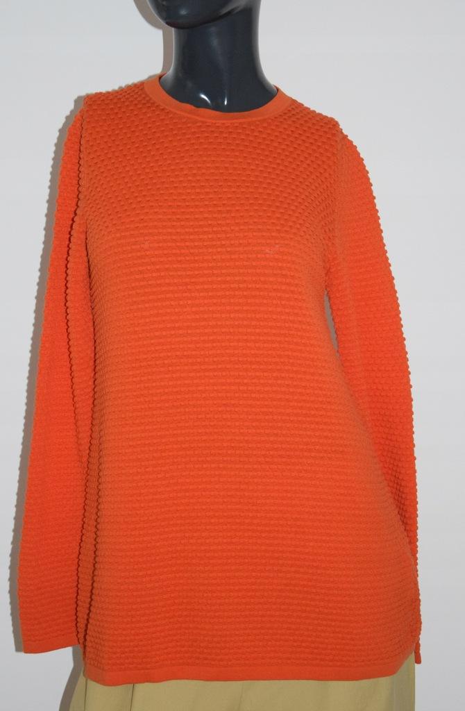 cos pomarańczowy sweter bawełna A-line r. S/36