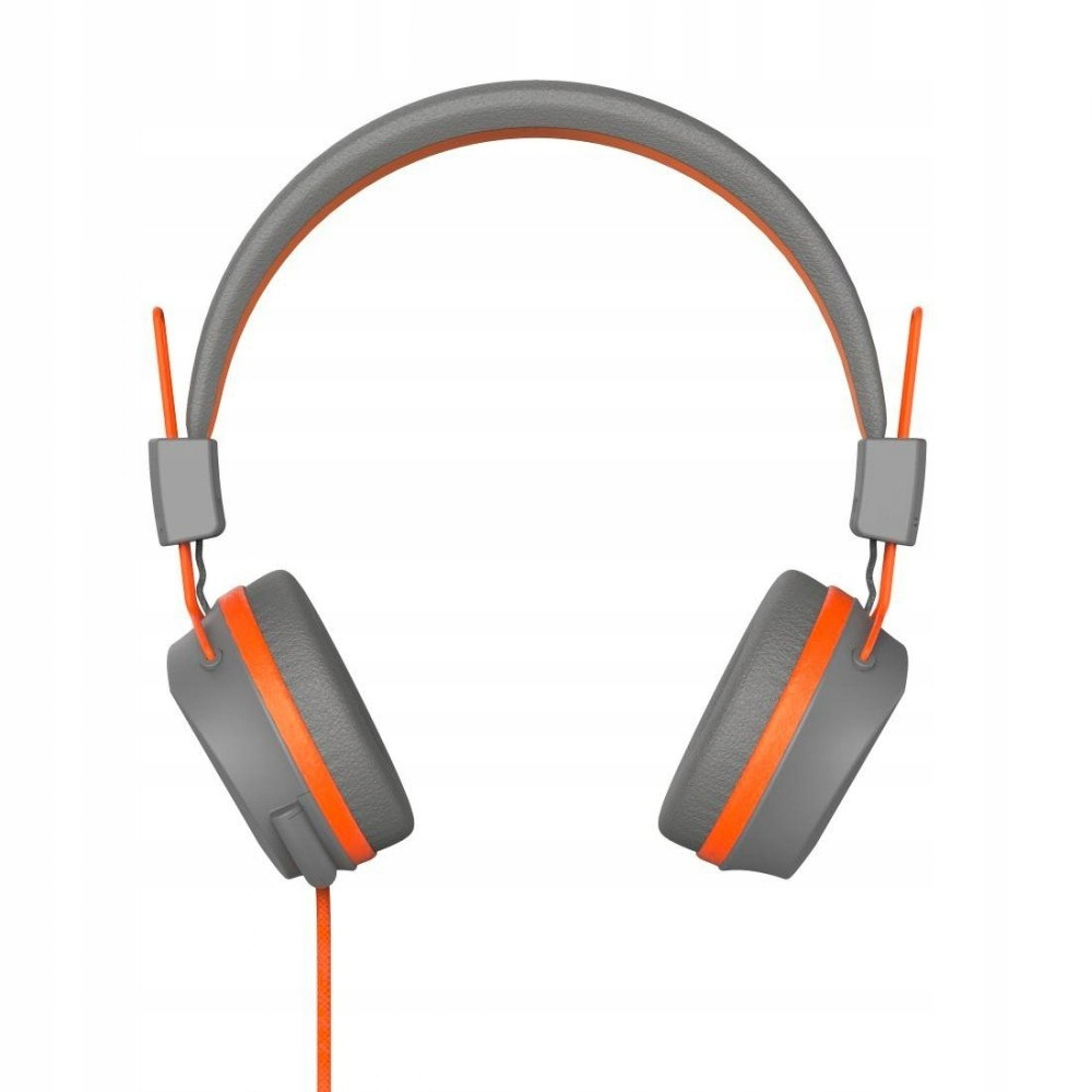 Słuchawki nauszne Next szaro-pomarańczowe