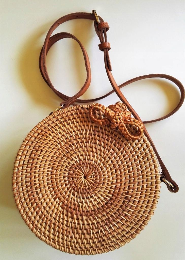 Torebka balijska, pleciona ratanowa z Bali