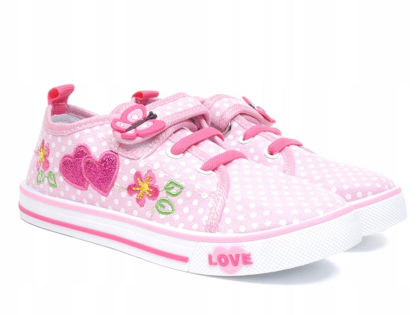 Tenisówki dziecięce American TEN 13/20 pink - 30