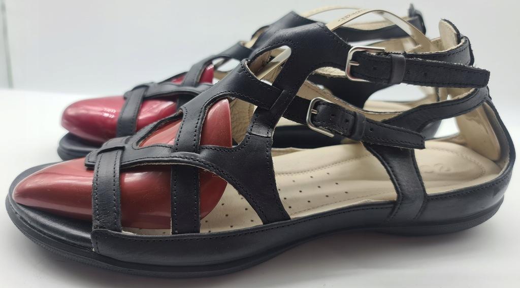 ECCO skórzane sandały r.42,wkł 28,5 cm S.IDEALNY