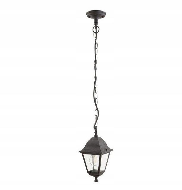 Lampa ogrodowa Argonne wisząca czarna E27 60W fr1