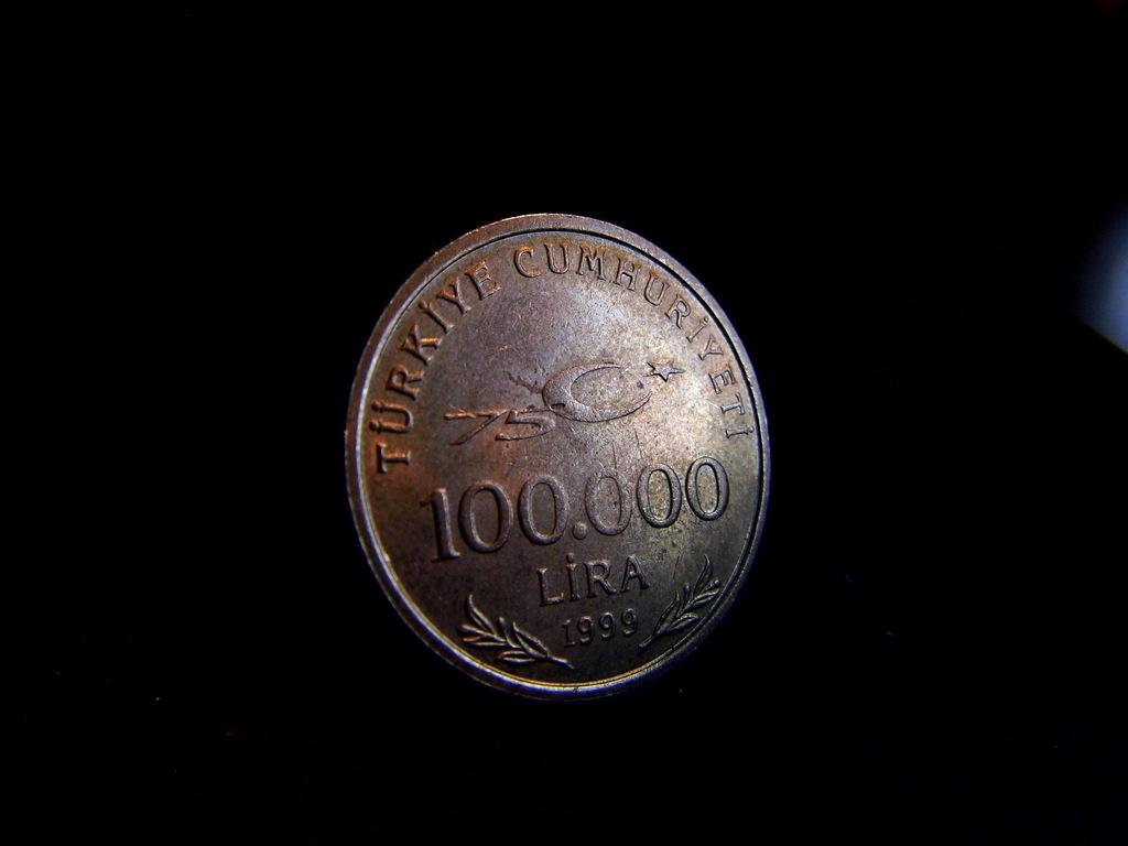 moneta 100 000 lira 1999r. Licytacja bcm