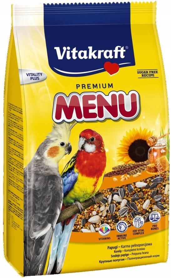 VITAKRAFT MENU VITAL 1kg karma d/średnich papug