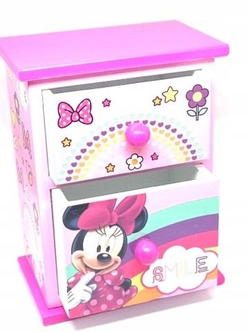 Pudełko Myszka MINNIE komódka szuflady NOWA