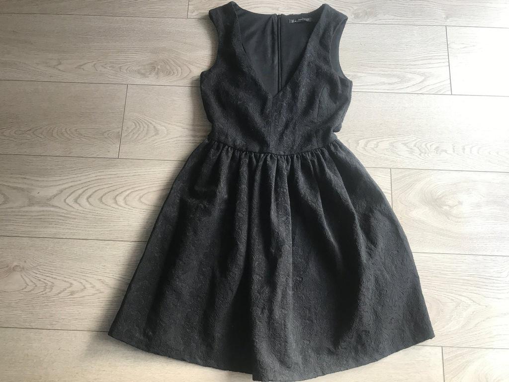 Zara TRF sukienka żakardowa L czarna