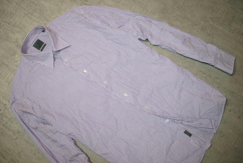 CALVIN KLEIN__SLIM__koszula w paski__XL_