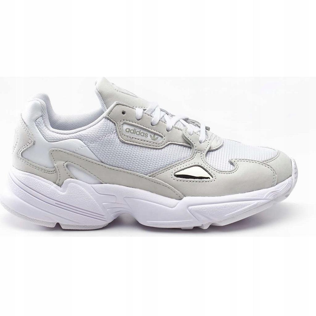 Białe Szare Buty Damskie Sportowe Adidas r.36 23