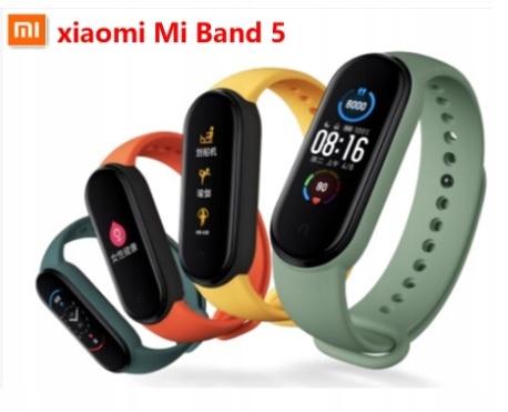Smartband Xiaomi Mi Band 5 czarny + Gratis PL