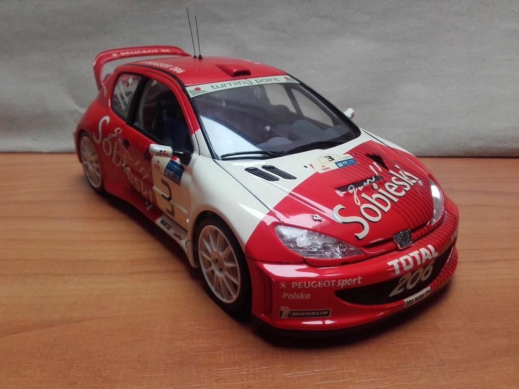 Hołowczyc peugeot 206 WRC SOBIESKI
