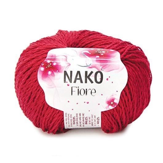 Włóczka NAKO Fiore len bawełna bambus 3252 czerwon