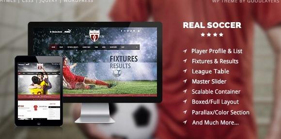 Szablon Themeforest Real Soccer Sport Clubs WP