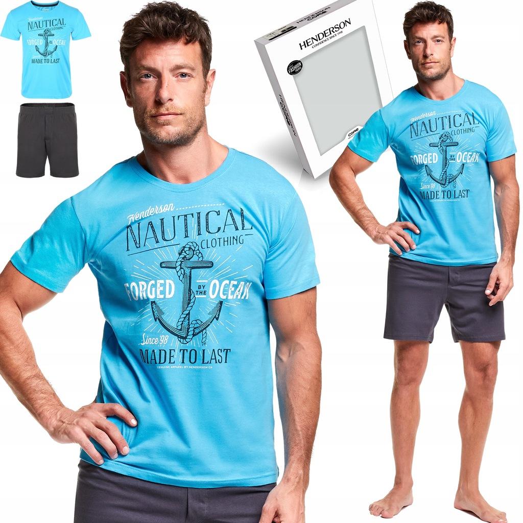 Piżama męska HENDERSON core 37301 56 krótki ręk. L