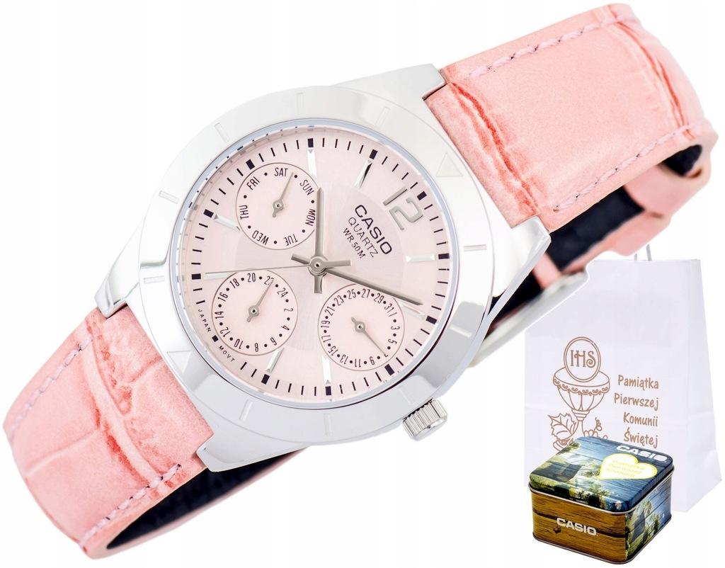 Zegarek CASIO PREZENT NA KOMUNIĘ dla dziewczynki