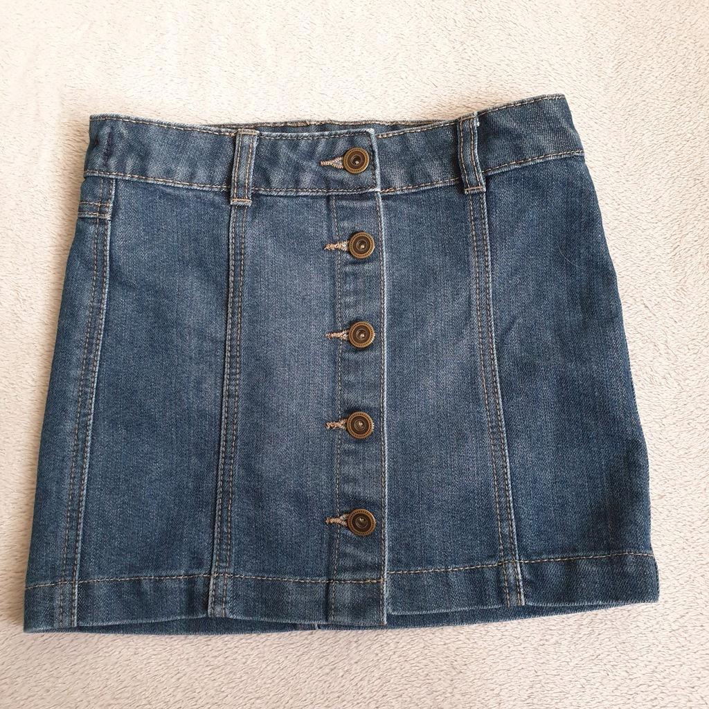 Spódniczka dżinsowa jeans TU dziewczęca rozm. 134