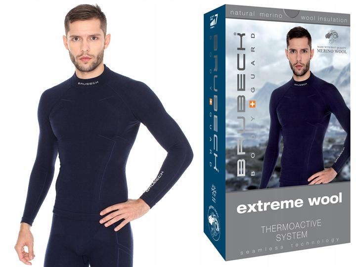 BRUBECK Bluza na narty Extreme Wool LS11920 L-gr