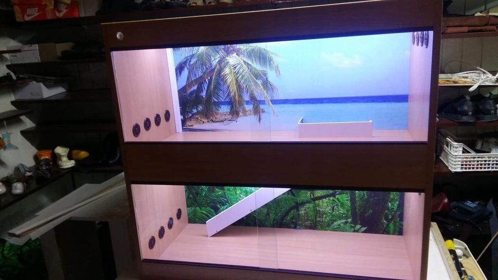 Nowe terrarium piętrowe