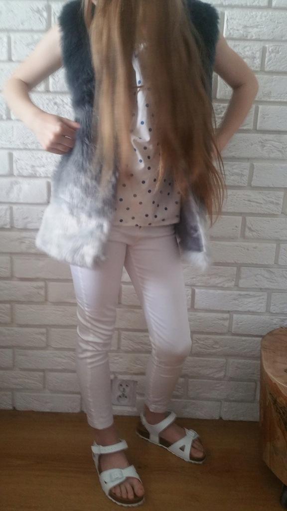 Spodnie biała 122 zara nowe