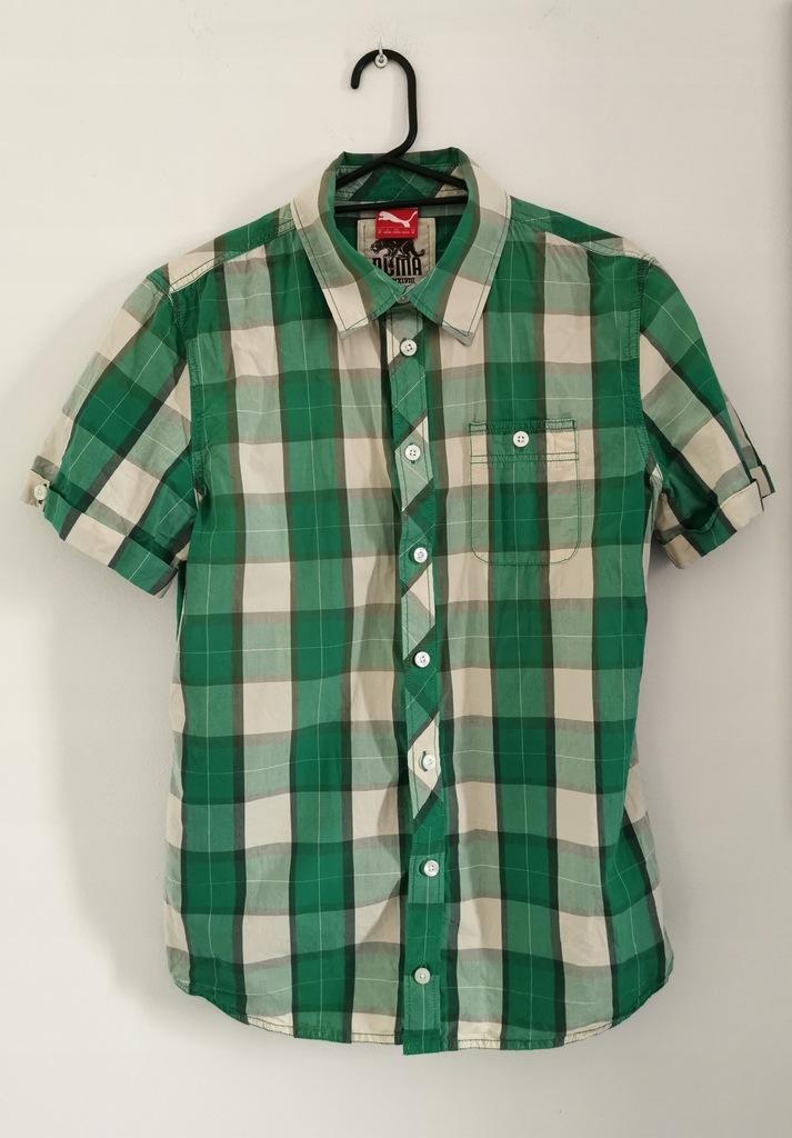 Męska koszula w kratę z krótkim rękawkiem PUMA