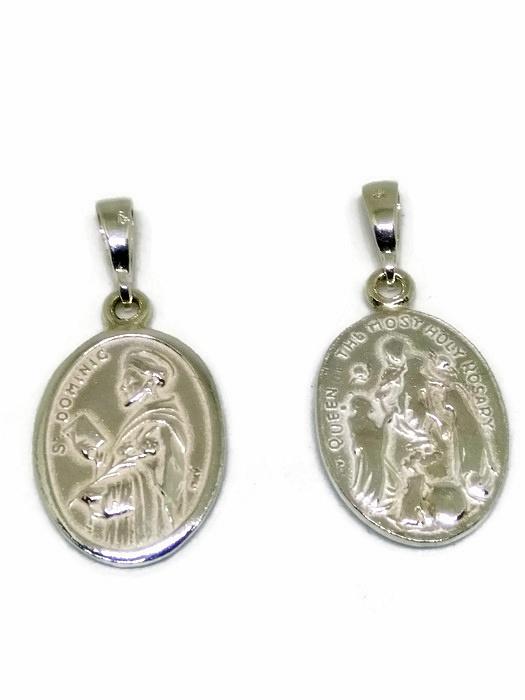 Srebrny Medalik Sw Dominik 7270112275 Oficjalne Archiwum Allegro