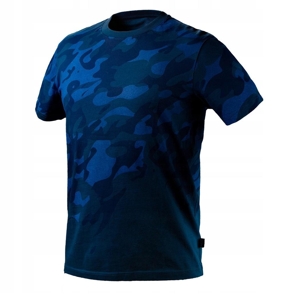 T-shirt roboczy Camo Navy, rozmiar S