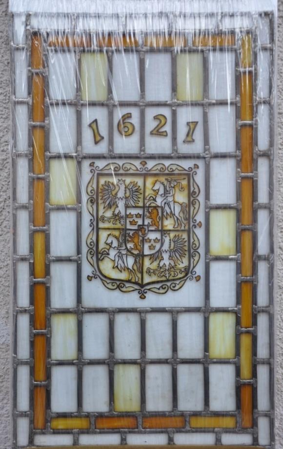 Witraż herb godło 1621 rok