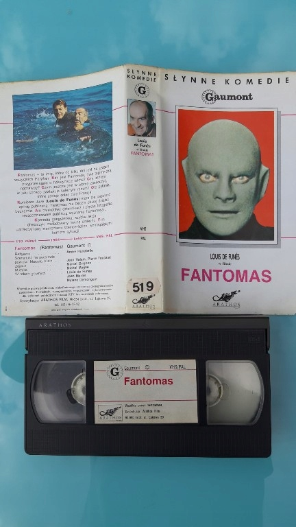 Fantomas _ vhs. Louis de funes.