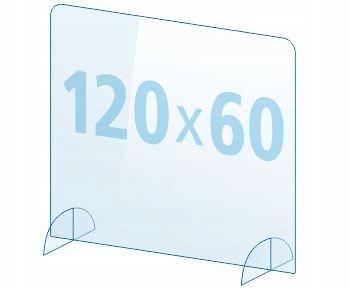 OSŁONA z pleksi ochronna EKRAN 4mm plexi 120x60