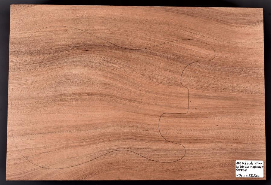 Drewno MAHOŃ na korpus gitary, basu, 40mm, 1-cz