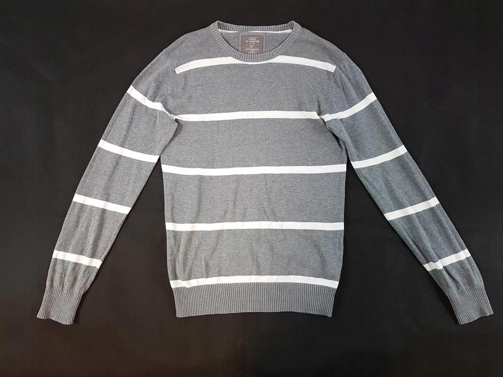3377 HM szary sweterek w paski S