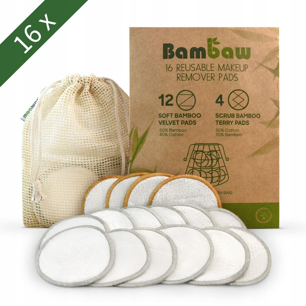 Waciki bambusowo-bawełniane BAMBAW 16szt