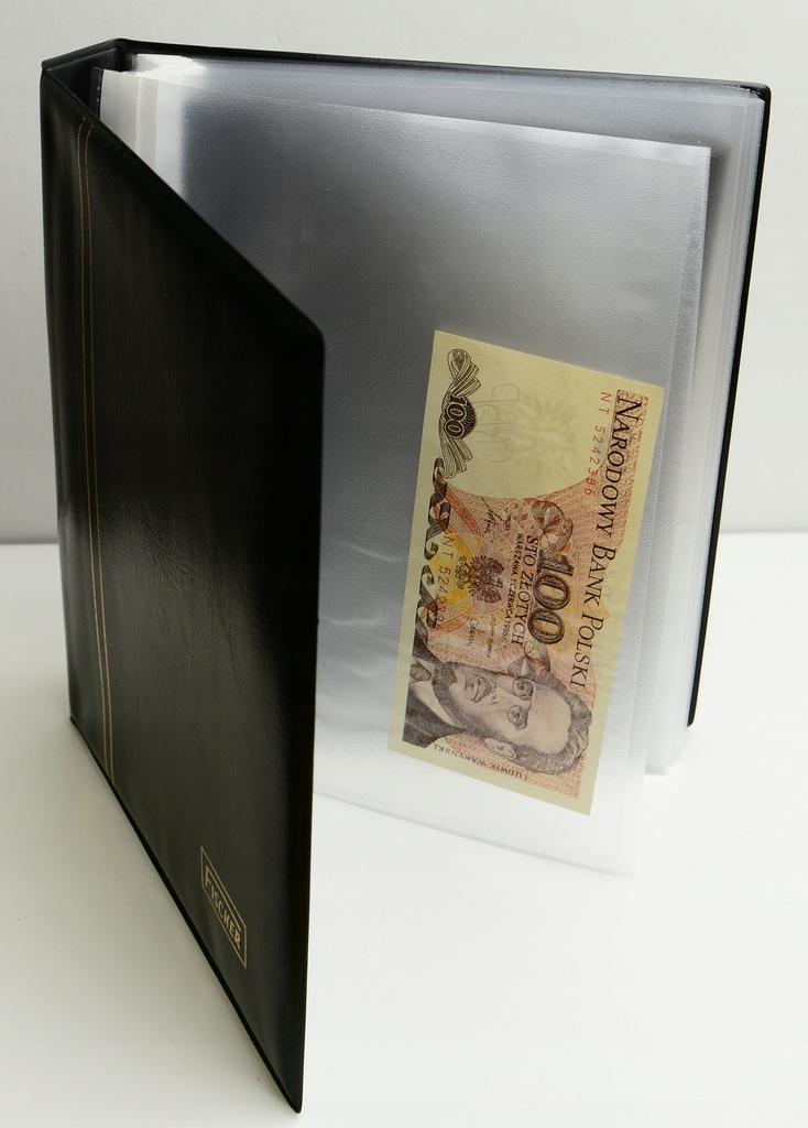 1.em.KLASER NA BANKNOTY + 100 Złotych 1986 NT