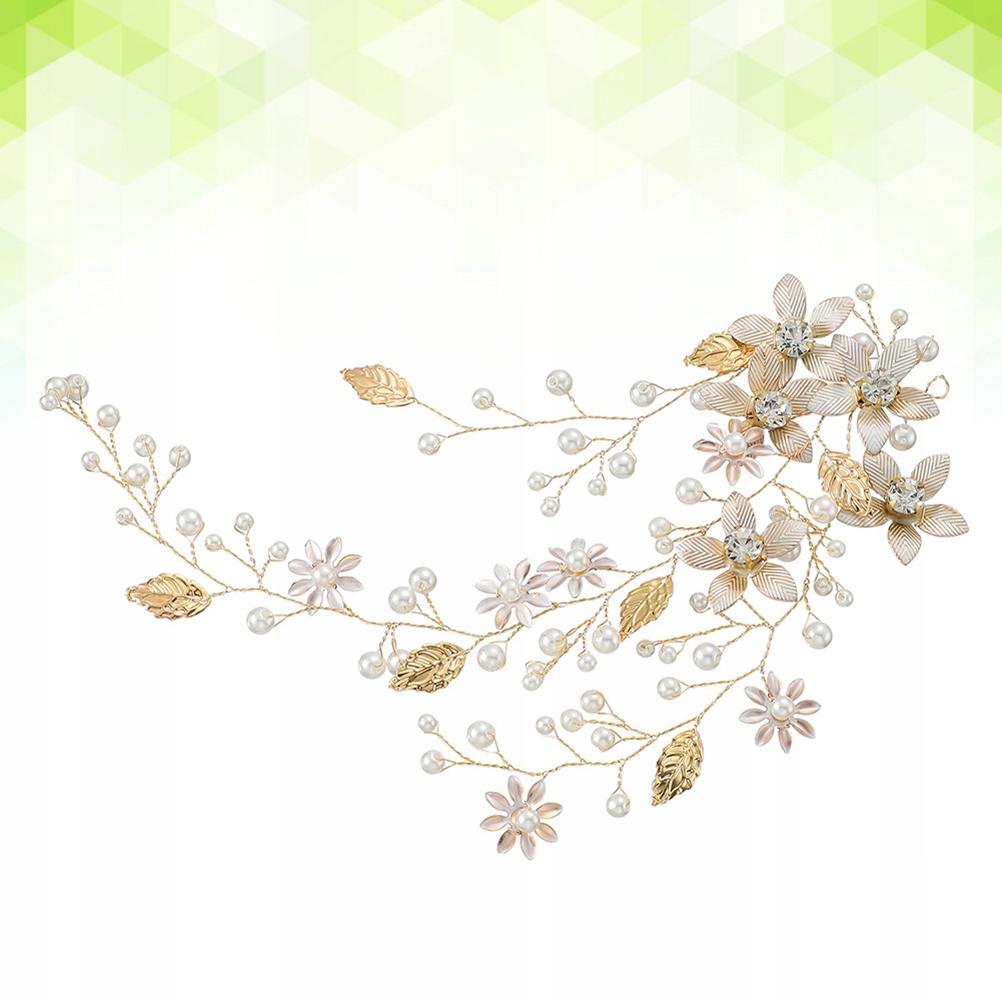 Floral Pearl Headband Hair Hoop Wedding Bridal wit