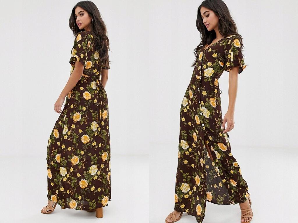 Miss Selfridge Petite - Maxi sukienka w kwiaty 38