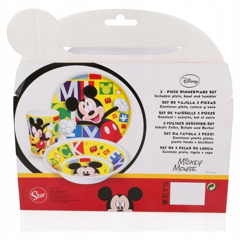 Mickey Mouse - Zestaw naczyń z melaminy (Talerz,mi