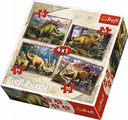 Puzzle trefl 4w1 Dinozaury